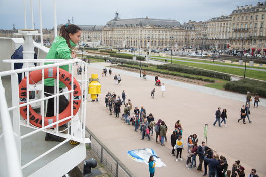 Visitors in Line for the Esperanza during the Open Boat in Bordeaux
