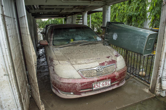 Flood Damaged Car in Townsville