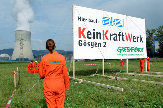 Nuclear Protest against new Nuclear Power Plant in Gosgen