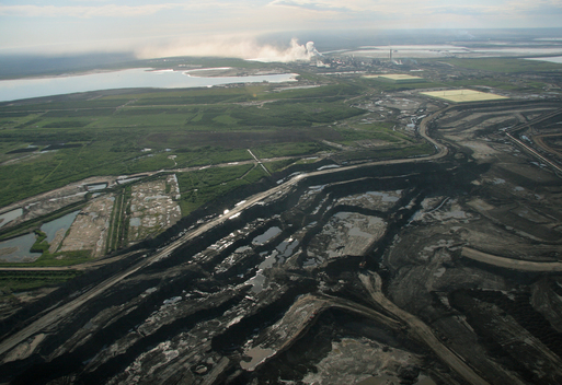 An Open-Pit Mine at the Alberta Tar Sands