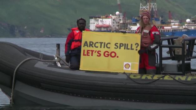Clipreel: 2012 SaveTheArctic Shell Protest