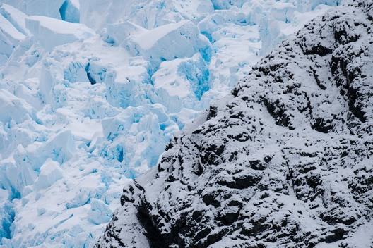 Glacier in Paradise Bay in the Antarctic