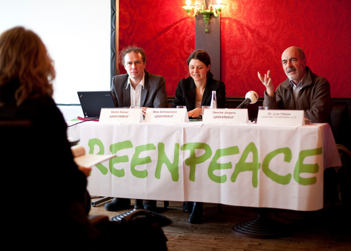 Press Conference on Beech Trees in Munich
