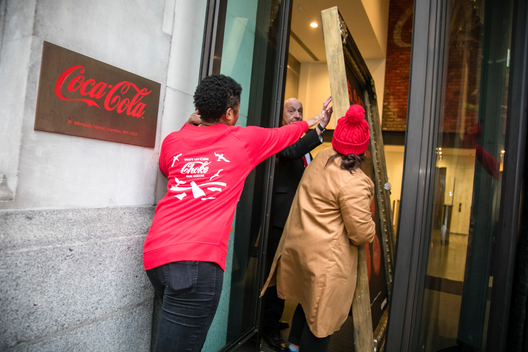 Petition Delivery at Coca-Cola HQ in London