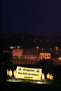 Action against Nuclear Power Plant in Germany
