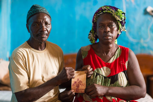Souleymane Faye and Siga Gueye, Parents of Lost Fisherman, in Senegal
