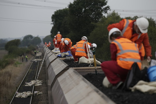 Coal Train Blockade Action in the UK