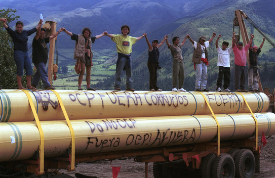 Protest against Pipeline in Ecuador