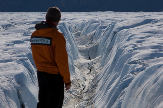 Crack on Petermann Glacier in Greenland