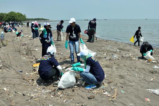 Beach Clean Up Activity and Brand Audit in Tangerang