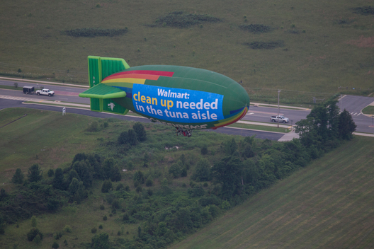 Airship over Walmart in USA