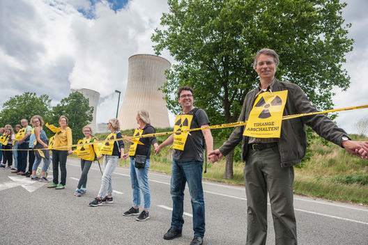 Human Chain against Nuclear Power in Belgium