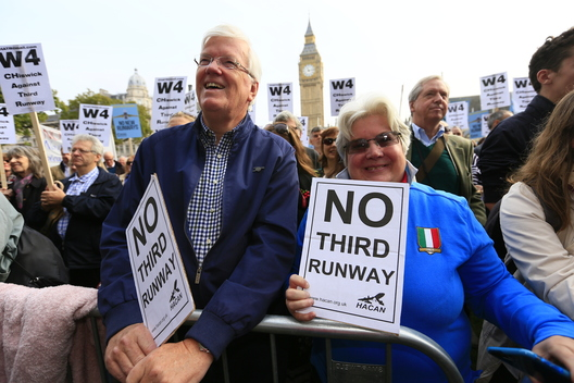Rally against Third Runway at Heathrow