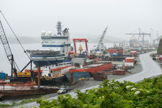 Shell Oil Exploration Vessels in Unalaska