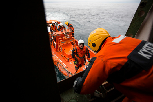 MV Esperanza is Boarded by Norwegian Coastguard During Statoil Action