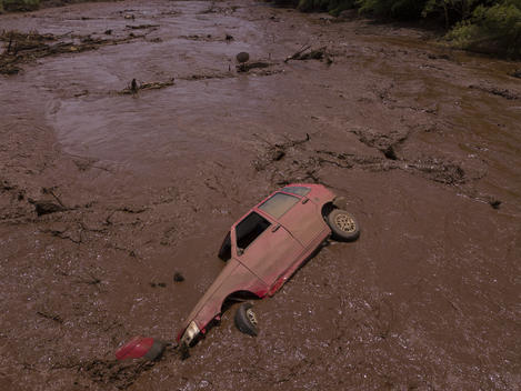 Car Destroyed by Brumadinho Environmental Crime in Brazil