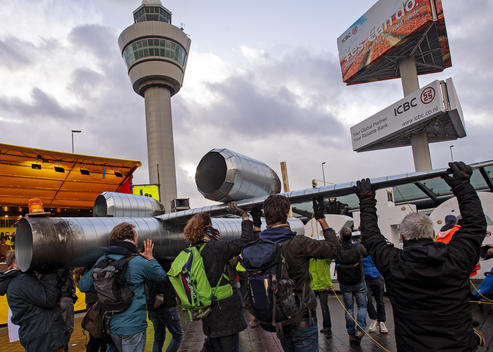 Protestival at Schiphol Airport in the Netherlands