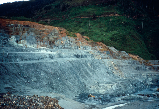Open-Pit Gold Mine in Papua New Guinea