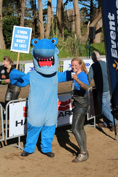Tuna Action at Sealord Mud Run in New Zealand