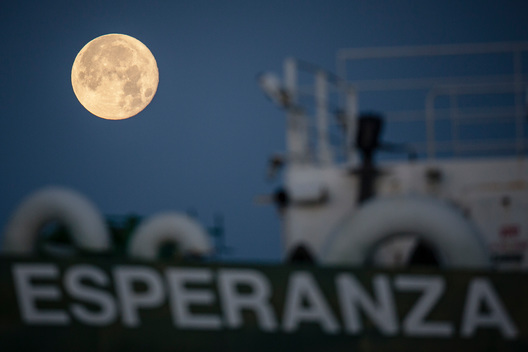 Esperanza and Supermoon in Scotland