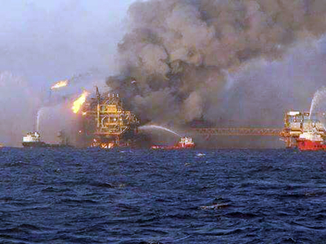 Oil Platform Fire Gulf of Mexico