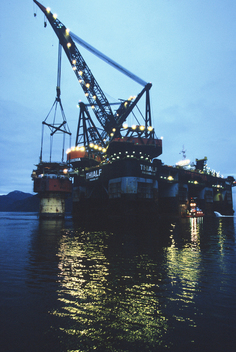 Brent Spar Oil Platform Dismantling in Norway