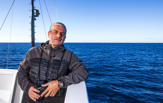 Captain Daniel Rizzotti on the Arctic Sunrise in the Antarctic