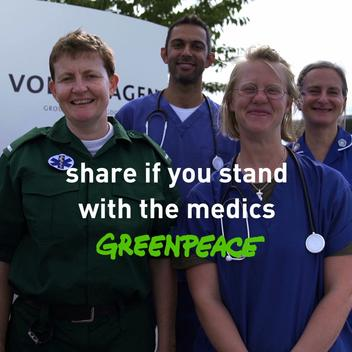 Medical Professional Take Part in Greenpeace Protest against VW in UK - WEB Video (ENG)