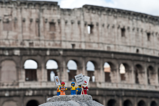 'Save the Arctic' LEGO Scene in Rome