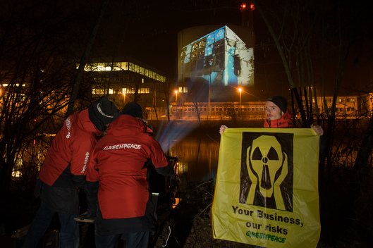 Fukushima Anniversary Projection in Switzerland
