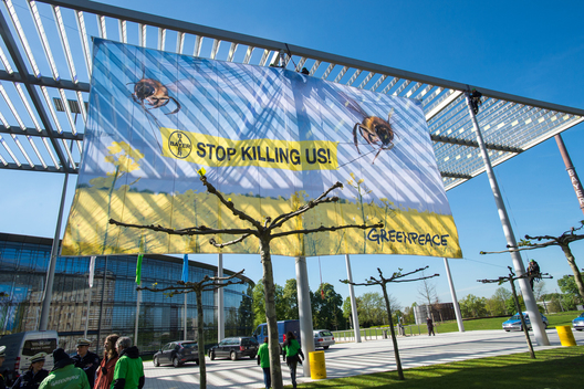Banner Action Against Bayer Pesticide in Germany