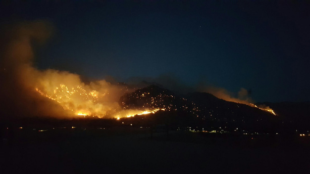 Erskine Fire in Central California