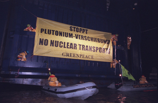 Action against Plutonium Transport in Germany