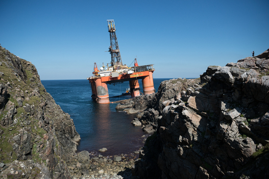 Oil Rig Aground in Isle of Lewis in Scotland