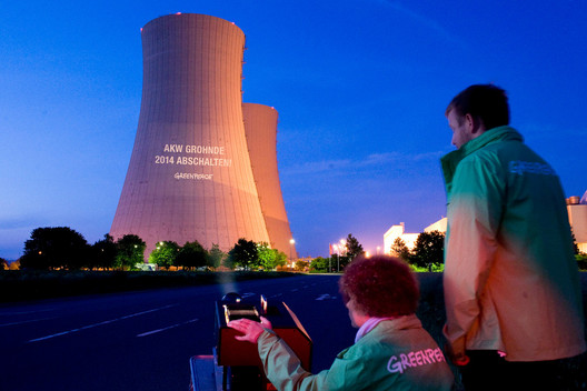 Projection on Nuclear Power Plant Grohnde