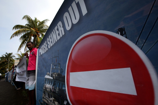 Protest outside IOTC Meeting in Mauritius