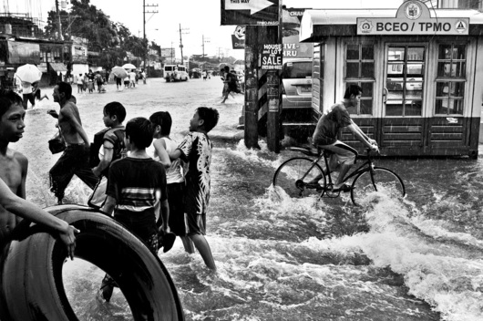 Flooded Roads in The Philippines