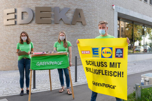 Augsburg Group Protests Against Cheap Meat in Germany