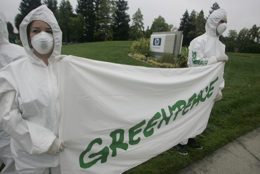 Toxics Protest at Hewlett Packard Headquarters