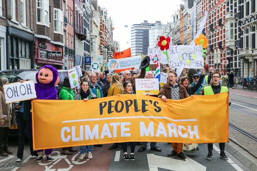 People's Climate March in Amsterdam