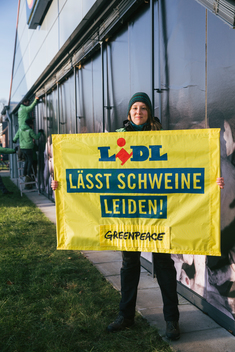 Protest Against Lidl's Cheap Meat Policy in Kiel