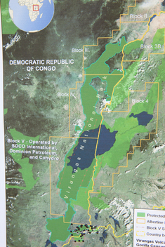 Seismic Oil Exploration Map in DRC