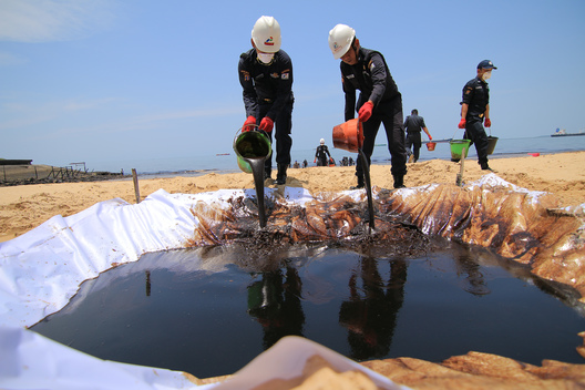 Oil Spill in Balikpapan, East Kalimantan