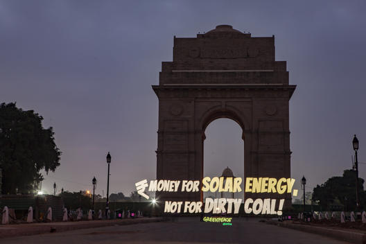 Renewable Energy Light Paintings in New Delhi