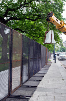 Jersey Wall Removed on Black Lives Matter Plaza in Washington DC