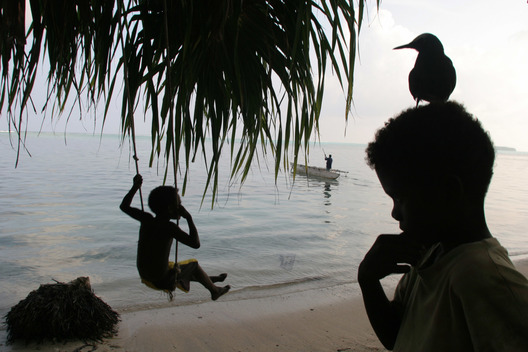 Children Play - Climate Change Sea Level Rise Documentation (Papua New Guinea: 2006)