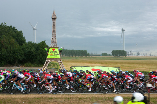 Climate Banner at the Tour de France in Netherlands