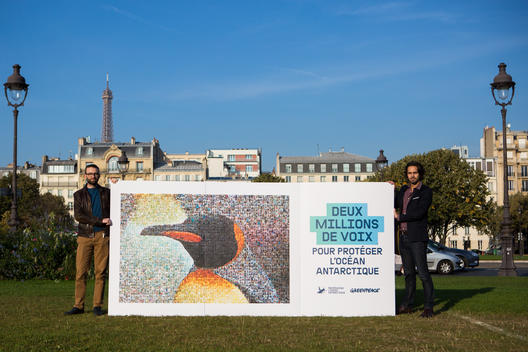 Protect the Antarctic Petition Delivery in Paris