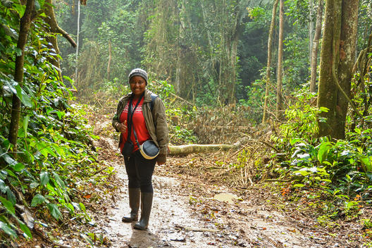 Forest Campaigner in Cameroon Rainforest