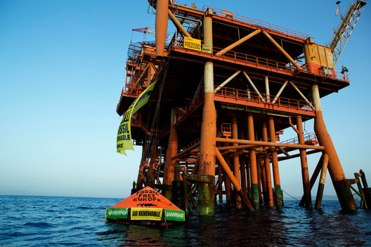 Action at the Prezioso Oil Rig in Italy